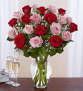 Ultimate Elegance™ Long Stem Pink & Red Roses