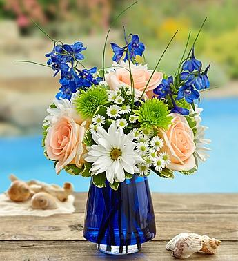 Summer Dunes in Blue Cobalt Vase