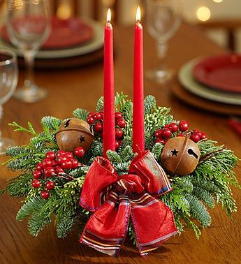 Festive Holiday Wreath & Centerpiece Set