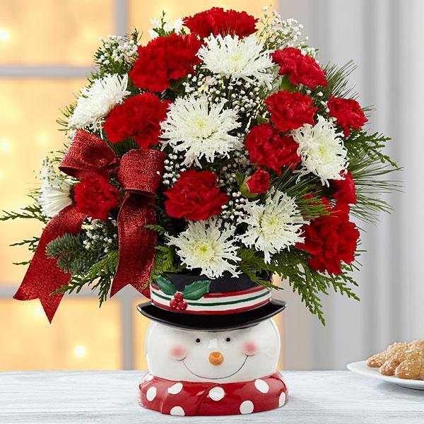 The FTD® Snowman Sensation™ Bouquet