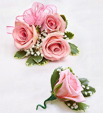 Denver florist le grues flowers pink rose corsage boutonniere pink rose corsage boutonniere mightylinksfo