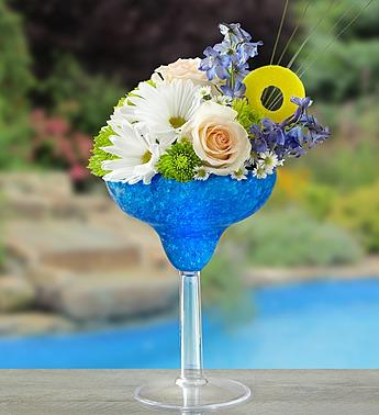Blue Hawaiian Floral Margarita