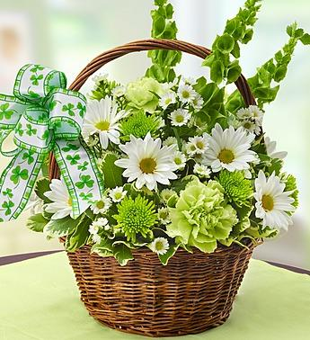 St. Patrick''s Day Flower Basket
