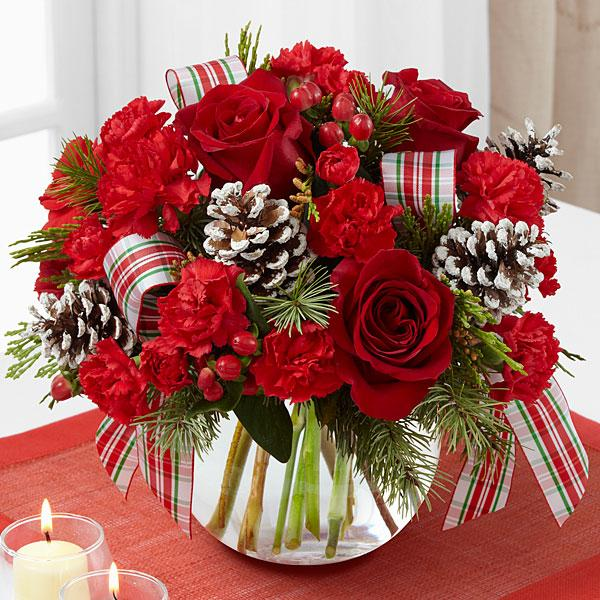 The FTD® Christmas Peace™ Bouquet-VASE INCLUDED