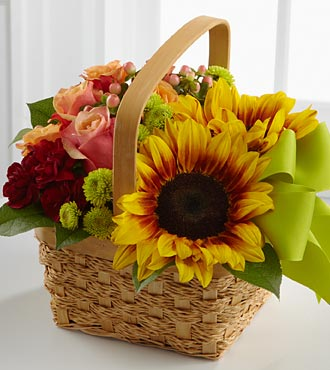 The FTD® Bright Day™ Basket - BASKET INCLUDED