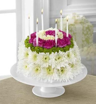 The FTD Wonderful Wishes Floral Cake