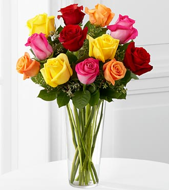 The FTD® Bright Spark™ Rose Bouquet