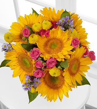 Dazzling Days Sunflower Bouquet - No Vase