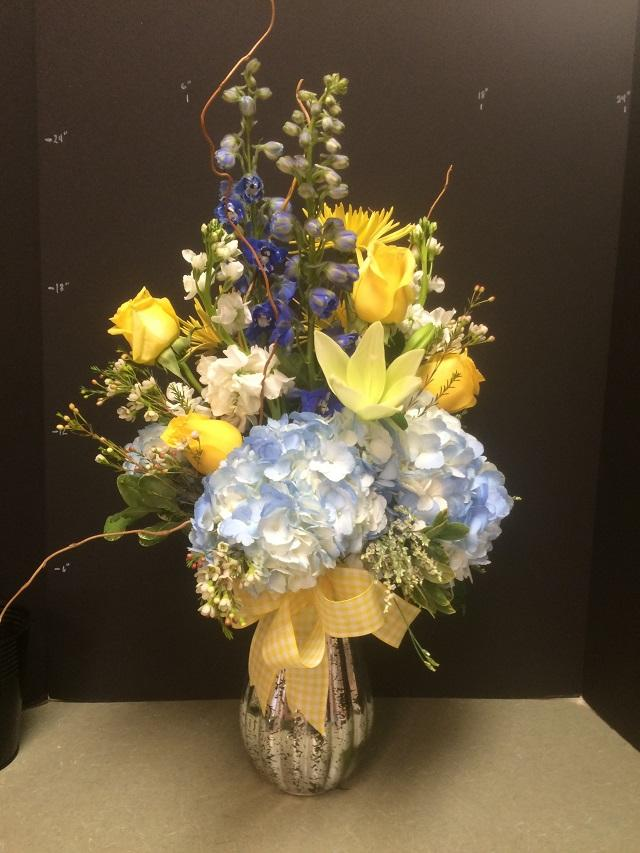 Yellow & Blue Vase