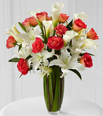 Blessings Luxury Rose Bouquet - Premium Long Stemmed Roses with Lilies