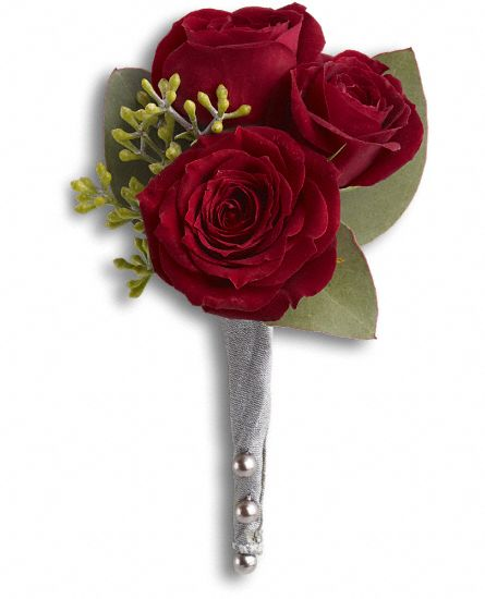 King''s Red Rose Boutonniere