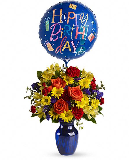 Fly Away Birthday Bouquet - Balloon included