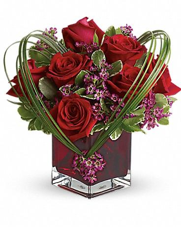 Teleflora's Sweet Thoughts Bouquet with Red Roses