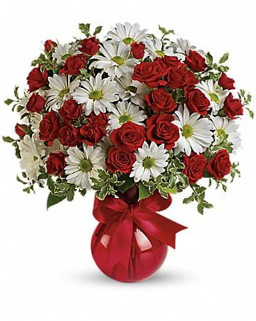 Red, White And You Bouquet by Teleflora