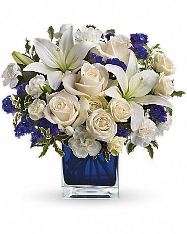 David Teleflora's Sapphire Skies Bouquet