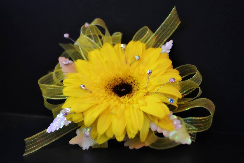 Yellow Gerber Corsage
