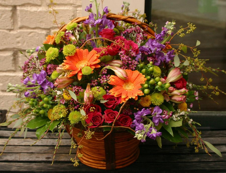 Assorted Basket Bouquet